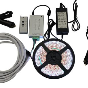 Multicolor 16.4 feet LED Light Strip Kit. RGB multicolor light Kit Features 300